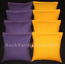 Cornhole Bean Bags Purple & Yellow All Weather Bags