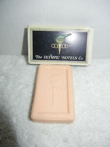 """Athens Greece Royal Olympic Hotel """"Olympic Hotels Co."""" Small Bar of Soap w/ box"""