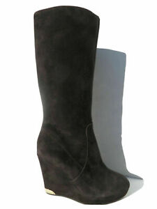 Vince Camuto Women's Kessia Boot Tall Boots Chocolate Suede Leather Brown.SZ:9.5