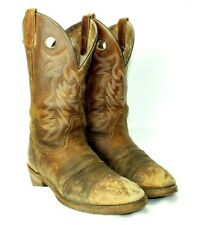 Double-H Ultragel Ice Buckaroo Boots Old Town DH5159 Women 9.5 M Brown 12""