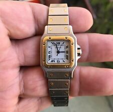CARTIER Santos Galbee gold&steel automatic watch working condition,serviced