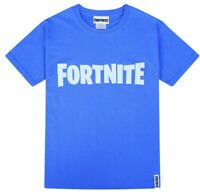 Fortnite Official Boys Gaming T-Shirt's Kids Cotton Royale Blue Tee