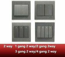 Luxury Wall Switch Panel Light 2 Way Push Button Rocker Switches 110~250V, 220V