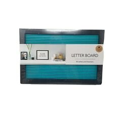 """Midwood 12""""x8"""" rectangle Letterboard - turquoise blue 148 pieces NEW decor"""