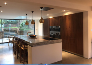 Modern Kitchen Design-Italian Style Cabinets-Wood Cabinets-Real Wood 200 color