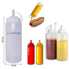 Jjprime 6x 12 oz (environ 340.19 g) Plastique Transparent Bouteille Squeeze Sauce Ketchup Moutarde huile barbecue
