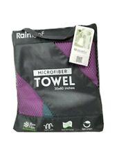 Rainleaf Microfiber Towel Dry Fast Perfect Travel Camp Gym 30x60 Purple New