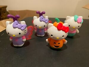 4 HELLO KITTY 2019 MCDONALDS HAPPY MEAL TOYS BUTTERFLY PUMPKIN MERMAID VGUC