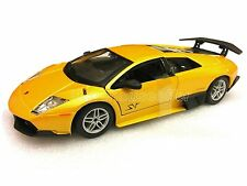 Bburago 1:24 Display LAMBORGHINI MURCIELAGO LP670-4 Race Diecast Car Yellow