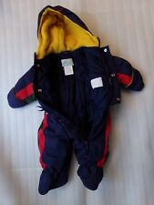 Classic LE PETIT ROTHSCHILD Boys Winter Snowsuit Bunting Hoodie Size 6/9 Months