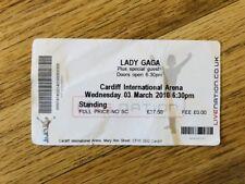 Lady Gaga Concert Ticket Stub Cardiff 03/03/2010