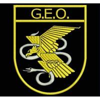 Parche Bordado GEO (Grupo Especial de Operaciones). / Embroidery patch GEO