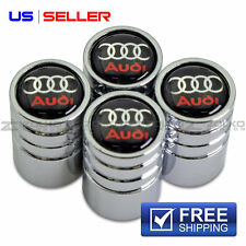VALVE STEM CAPS CHROME WHEEL TIRE FOR AUDI - US SELLER VE04