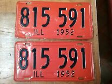 1952 Illinois license plates Chevy Ford Oldsmobile Buick Pontiac Dodge Plymouth