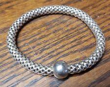 "Silpada Sterling Silver B2788 Stretch Bracelet 7"""
