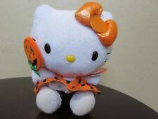 "TY Sanrio HELLO KITTY COLLECTION HALLOWEEN 6"" Orange Plush Stuffed Animal"