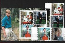 Gibraltar SG932/5 + MS936, 2000 Principe William 18TH Gomma integra, non linguellato