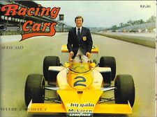 APRIL 1977 RACING CARS MAGAZINE - JOHNNY RUTHERFORD ON COVER - INDY CAR