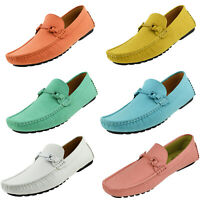 Amali Mens Casual Driving Moccasin Loafers Designer Suede Slip On Dress Shoes