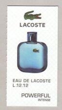 Carte à parfumer -  Perfume card  - Eau de Lacoste
