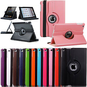 Leather 360 Rotating Smart Case Cover Apple iPad 10.2 Air 10.5  Pro 9.7 Mini 5