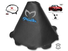 Gear Stick Gaiter For Mazda MX5 Roadster ND 2014-18 Leather Logo Blue