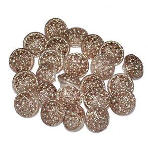 Mercerie petit Bouton vintage verre coloris bronze 11mm vendu à l'unité button