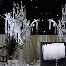 99 FT Garland Diamond Strand Acrylic Crystal Bead Beaded Wedding Christmas Decor