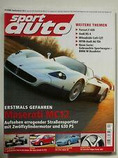 sport auto - Nr.4 2005 mit Supertest: Mercedes SLK 55 AMG, Audi RS4, Jaguar XK