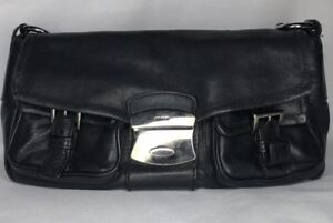 Prada Vintage Shoulder Bag Black Leather