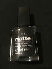 Avon Cosmetics Matte Nail Wear colour Black
