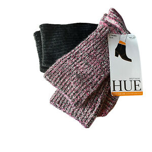 hue boot socks set of 2 one size multicolor