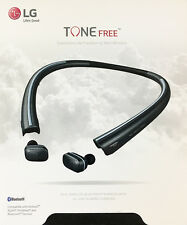 LG - TONE Free HBS-F110 Wireless In-Ear Headphones - Black - VG - In Retail Box
