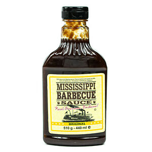 """Mississippi - Barbecue Sauce """"Original"""" 510 g (440ml) - BBQ Barbeque Grill-Soße"""