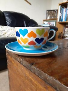 Whittard of Chelsea large hearts cup and saucer