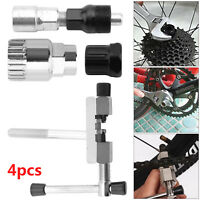 4Pc Mountain Bike MTB Bicycle Crank Chain Axis Extractor Removal Repair Tool Kit
