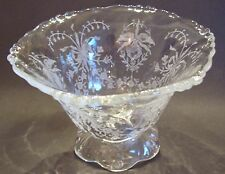 Lovely Vintage Heisey Glass Orchid Footed Mayo Bowl