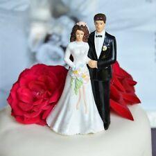 Traditional Vintage Bride and Groom Wedding Cake Topper
