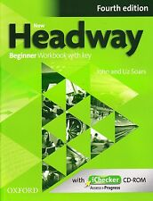 Oxford NEW HEADWAY Beginner FOURTH EDITION Workbook w Key & iChecker CD-ROM NEW