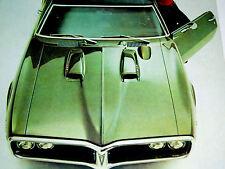 1968 PONTIAC FIREBIRD 400/HO-350 V8 engine ORIGINAL AD *Ram Air hood/door/1967