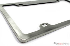 Real Brushed Aluminum Custom Metal License Plate Frame for Auto-Car-Truck-SUV