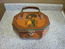 Vintage Wooden Octagon Box / Purse by Evelyn