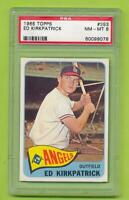 1965 Topps - Ed Kirkpatrick (#393)  Los Angeles Angels   PSA 8 NM-MT