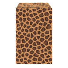 leopard print gift product bags paper 4x6 100 count package