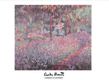 Garden at Giverny - Claude Monet - Fine Art Giclee Print Poster (Various Sizes)