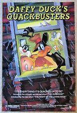 DAFFY DUCK QUACKBUSTERS ORIGINAL 1988 1SHT MOVIE POSTER ROLLED MEL BLANC EX