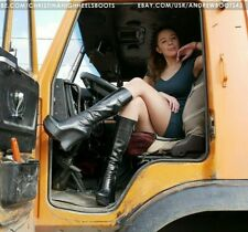 GIANMARCO LORENZI EU 40 US 9 hidden platform high heels leather wedge boots