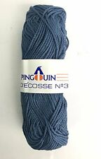 Pingouin Fil D'Ecosse No3 Worsted Cotton Cabled Yarn Knit Dark Teal #17 Bag of 4