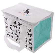 Gewebte mini Kühltasche Lunchbox - I love my cat - Isoliertasche Picknicktasche