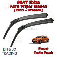 (17-19) Seat Ibiza Aero Wiper Blades / Front Windscreen Flat Blade Wipers MK5